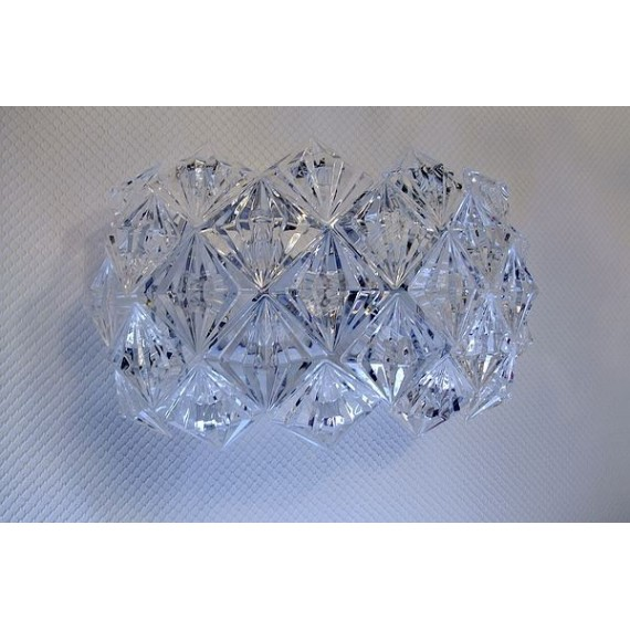 Diamond wall lamp transparent color top view