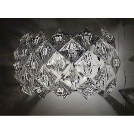 Diamond wall lamp transparent color in dining room
