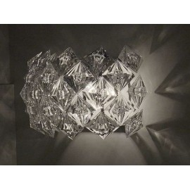Diamond wall lamp transparent color side view