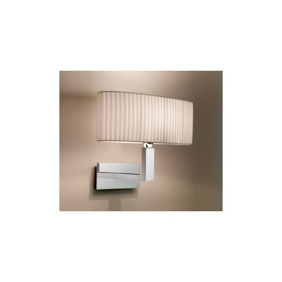Mei oval wall lamp Bover white color front view