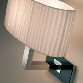 Mei oval wall lamp Bover white color with detail