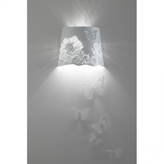 Central park wall lamp Karman white color front view