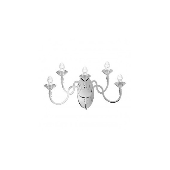 Edge D01 wall lamp Fabbian grey color front view