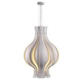Onion pendant lamp Verpan white color front view