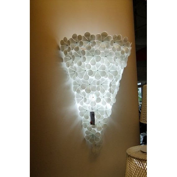 Ipe Cavalli alwin wall lamp white color S front view