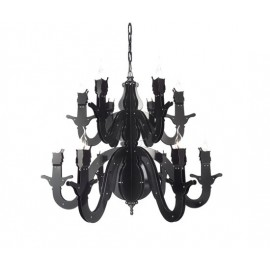 Night Watch chandelierm Brand van Egmond black color front view