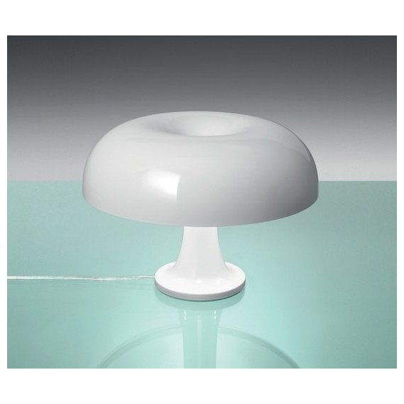 Nesso Table Lamp Artemide white color front view