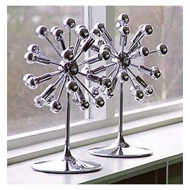 Sputnik table lamp chrome color with detail