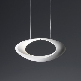 Cabildo pendant lamp Artemide white color front view
