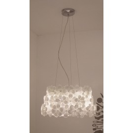 Cycas alwin pendant lamp white color S front view