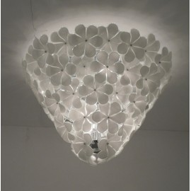 Alwin ceiling lamp conical white color A front view