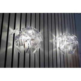 Hope wall lamp Luceplan transparent color side view
