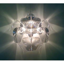 Hope wall lamp Luceplan transparent color in dining room