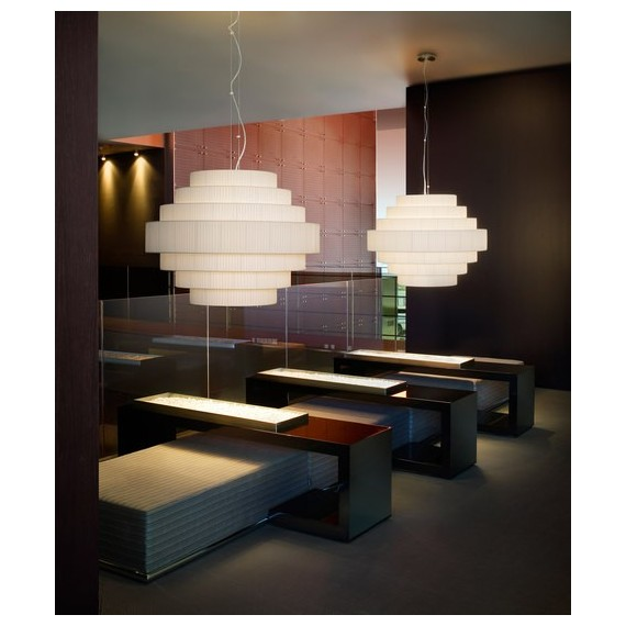 Mos pendant lamp Bover white color S side view