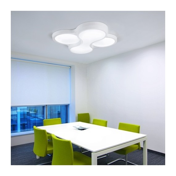 Ceiling lamp Ocho 4 LEDS-C4 white color L side view