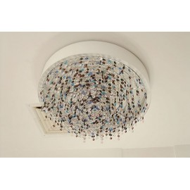 OLA ceiling lamp circle Masiero S front view