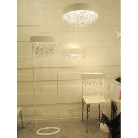 OLA floor lamp Masiero white color in dining room