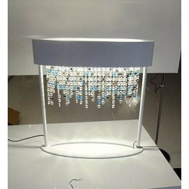 OLA cystal luxurious table lamp Masiero white color front view