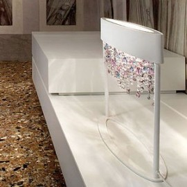 OLA cystal luxurious table lamp Masiero white color side view