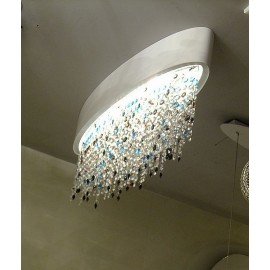 OLA ceiling lamp oval Masiero S front view