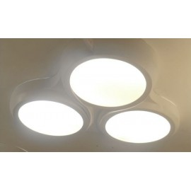 Ceiling lamp Ocho 3 LEDS-C4 white color front view