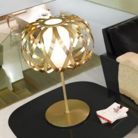 ROLANDA table lamp Bover gold color side view