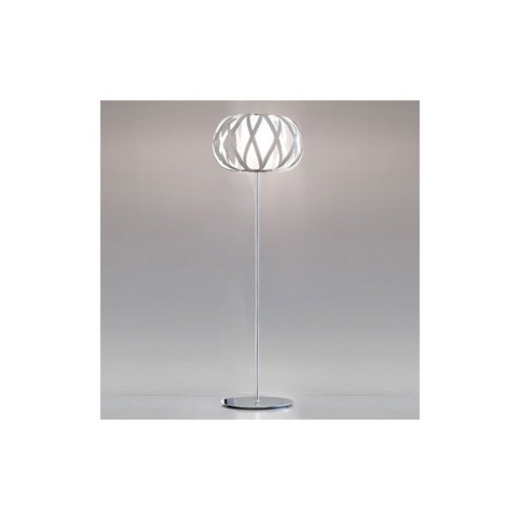 ROLANDA floor lamp Bover polished chrome color front view
