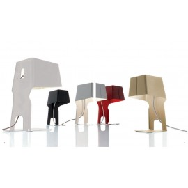 Leti 23 Bookend table lamp Danese white color / black color / red color / yellow color S / L side view