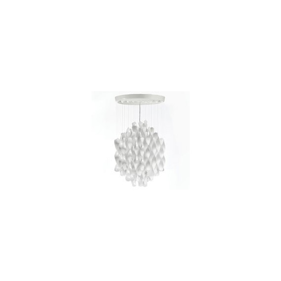 Spiral SP1 ceiling or pendant lamp Verpan white color front view