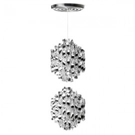 Spiral SP2 ceiling or pendant lamp Verpan silver color front view