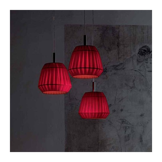 Small Loto pendant lamp Modoluce red color front view