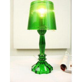 Princess table lamp green color front view