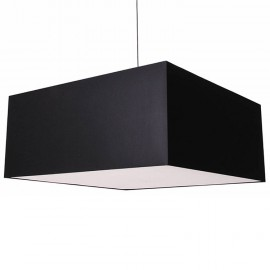 Quadrato Pendant lamp Modoluce black color front view
