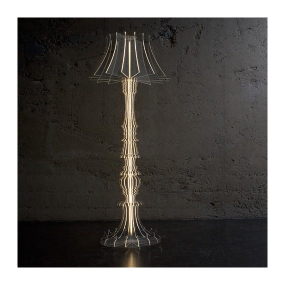 Josephine floor lamp Sander Mulder crystal color front view