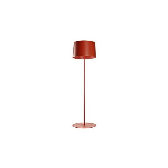 Twiggy reading floor lamp Foscarini red color front view