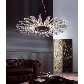Pegasus crystal pendant lamp Marchetti side view