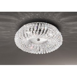 Carla crystal ceiling lamp Kolarz chrome color front view