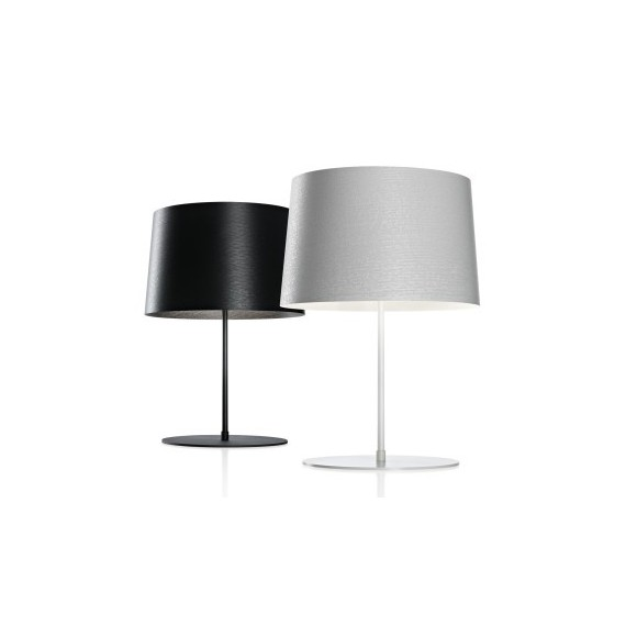 Twiggy table lamp Foscarini black color / white color front view