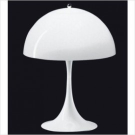 Panthella table lamp Verpan white color front view