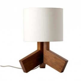 Rook table lamp Blu Dot white color front view