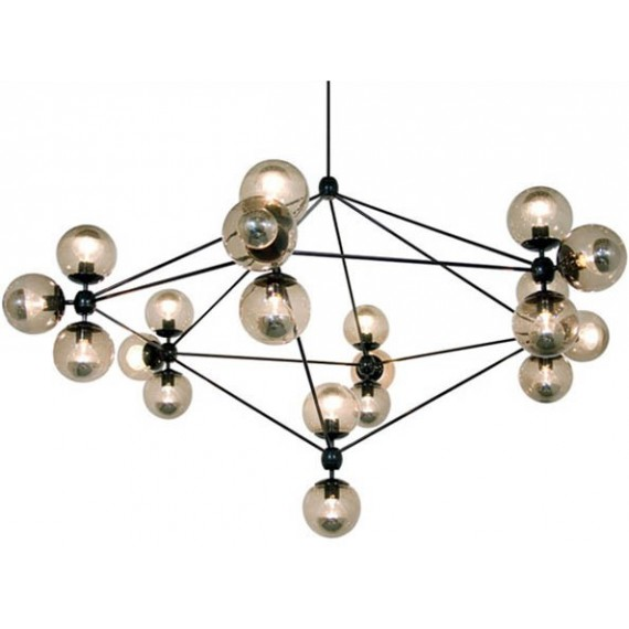 Modo chandelier Roll & Hill smoked color front view