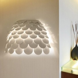 Carmen wall lamp FontanaArte white color back view