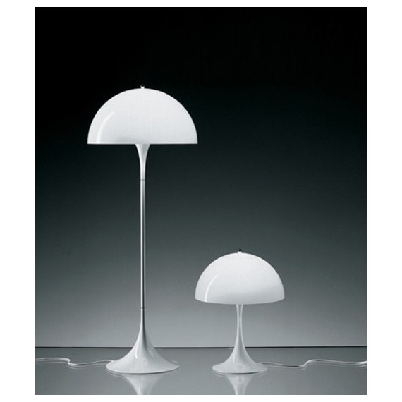 Panthella floor lamp Verpan white color front view