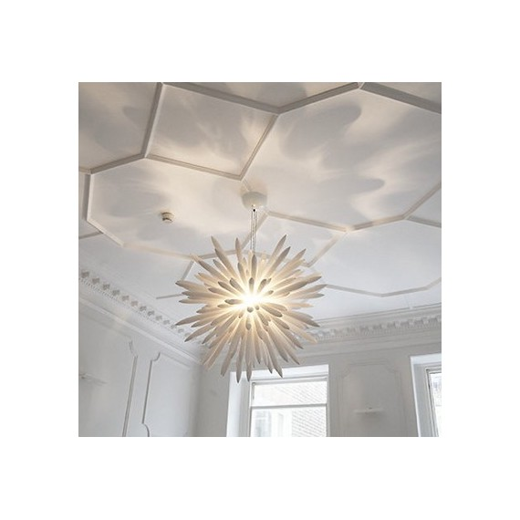 Kou chandelier white color Diam 80cm front view