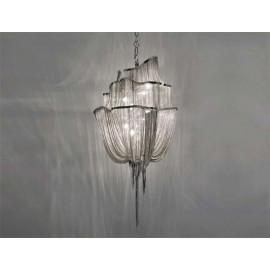 Atlantis chandelier 3 tier Terzani nickel color M front view