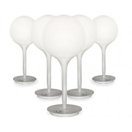 Castore table lamp Artemide white color front view