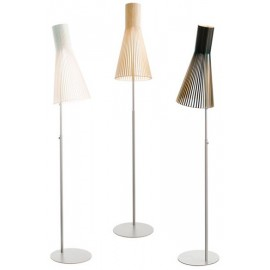 Secto 4210 floor lamp Secto Design white color / natural color / black color front view