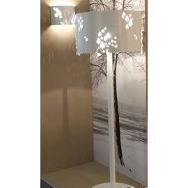 Miss Brilla floor lamp Karman white color in dining room