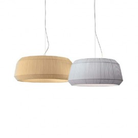 Loto pendant lamp Modoluce white color / beige color side view