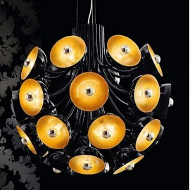 Symphony Chandelier EviStyle black color front view